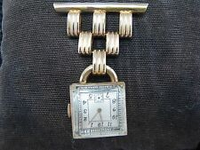 Vintage Bruk Watch Co. Lapel Watch with Art Deco Style Watch Pin
