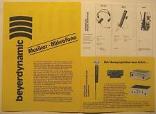 BEYERDYNAMIC MUSIKER MIKROFONE FLYER / FALTBLATT