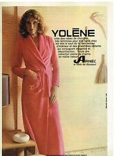 Publicité Advertising 1975 Les Robes de Chambres Yolène
