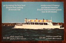 FERRY BOAT ADVERTISING CARD with MAP 1967 MONTREAL EXPOSITION CANADA Postcard