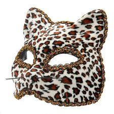 Leopard Venetian Masquerade Mask Cat mask Halloween eyemask Feline Fancy Dress