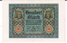 "GERMANY BANKNOTE 100 P69b 1920 UNC 8 digit letter ""O"""