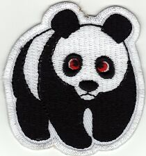 Aufnäher Bügelbild Iron on Patches Panda Bär Tier süß (a3w8)