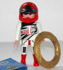 RACER WITH RIM Playmobil FIGURES 10 BOYS 6840 to Racing Motorcycle Car NEW
