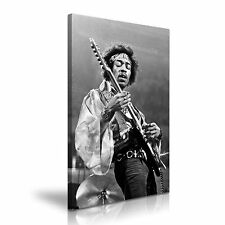 Jimi Hendrix Black and White Canvas Wall Art Picture Print 50x76cm