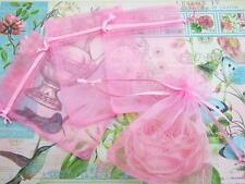 "50 Drawstring Organza Bag 4x6"" Party Gift/Baby Shower Favors/Big/Pouch NO4-Pink"