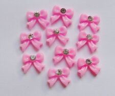 10 x 3D Acrylic Nail Art Rhinestone BowTie Bows Decoration Pink,White,Black NEW