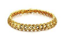 """Unisex Men Women's 18K Gold Filled Bracelet 7"""" G14"""