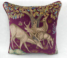 William Morris Fabric Cushion Cover 'The Brook' Tapestry Red - Stunning Velvet