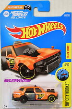 HOT WHEELS 2017 HW CITY WORKS TIME ATTAXI #4/10 ORANGE