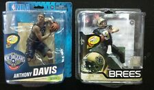 LOT OF 2 MCFARLANE ANTHONY DAVIS CL NEW ORLEANS PELICANS + BREES SAINTS CHASE