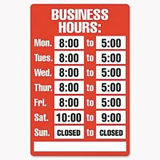 Cosco Business Hours Sign Kit - 098072