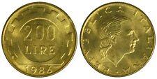 REPUBBLICA ITALIANA/ITALY 200 LIRE 1986 (Lavoro) FDC/UNC (da rotolino) £32