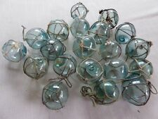 "Vintage Japanese Round Glass Fishing Floats W/ Netting, 2"",   Lot 20"