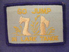 Go Jump In  Lake Tahoe patch