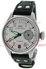 "IWC Big Pilots ""Father"" Watch Silver Rhodium Dial 46mm Stainless Steel IW500906"