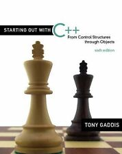 Starting Out with C++ : From Control Structures Through Objects by Tony...