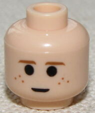 LEGO FLESH MINIFIGURE HEAD WITH DIMPLES ANAKIN FACE BLACK PUPILS