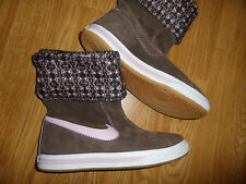 NIKE GLENCOE 100857228 SUEDE BOOTS WOMEN'S 10 BROWN PINK