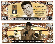 Memory of Muhammad Ali Million Dollar Bill Collectible Funny Money Novelty Note