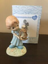Precious Moments Disney Wendy With Tinker Bell Peter Pan 840004