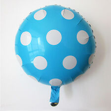 "18"" Blue Round Big Polka Dot Foil Balloons For Wedding Birthday Party Decoration"