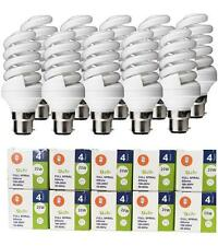 10 X 20W LOW ENERGY SAVING LAMP BAYONET BULB  CFL SPIRAL BULB 20W=100W COOL BLUE