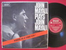 JOHN MAYALL ~ PLAYS JOHN MAYALL DEBUT 1965 UK MONO DECCA LK 4680  RARE BLUES LP