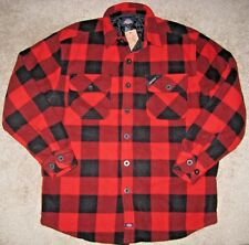 Dickies. Polar Fleece Lined Shirt/Jacket. Relaxed fit. Men's. M. NWT. Plaid. Red
