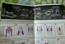 Transformers ROTF BRUTICUS MAXIMUS INSTRUCTION BOOKLET ONLY