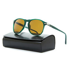 Persol 9649 Sunglasses 1013/57 Ossidiana Green / Brown Polarized PO9649S 52 mm