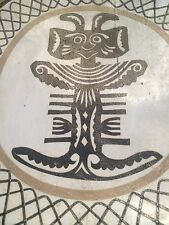 HANDMADE AFRICA DECORATED STOOL ESTATE ITEM AGE