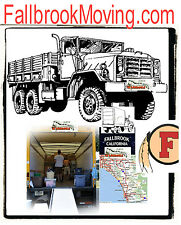 Fallbrook Moving .com Job Opening Truck 2 Guys Move California Space Rent earth