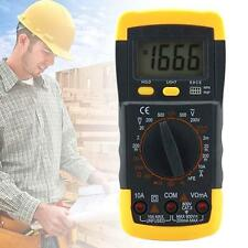 Digital Multimeter With LCD Ammeter Voltmeter AC/DC OHM Diodes Checker Tester TS