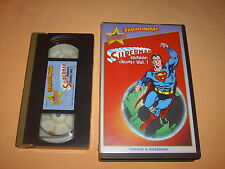 ( VHS ) SUPERMAN CARTOON CLASSICS VOL.1. STARDUST FANTASTIMONDO. OTTIMA.