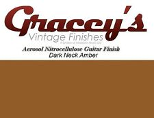 -Dark Neck Amber- Gracey's Vintage Finishes Nitrocellulose Guitar Lacquer.