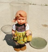 Vintage Hummel Goebel Vinyl Doll Germany Girl with Straw Basket NICE!