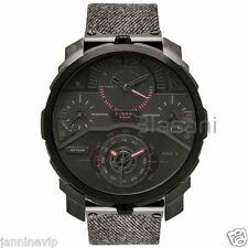 Diesel Original Men's DZ7358 Machinus Black Denim Strap Chrono Watch 55mm