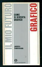 PAMPARANA ANDREA COME DI DIVENTA GRAFICO MONDADORI 1986 OSCAR IL MIO FUTURO