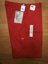 NWT Mens Dickies Red Work Shorts Loose Fit Size 44 Cell phone pocket