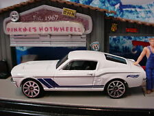 2015 Multi Pack Exclusive '67 FORD MUSTANG ✿White/Blue; 10sp∞LOOSE∞Hot wheels