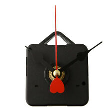 Goodly Quartz Clock Movement Mechanism with Hook Red Metal Heart Hands