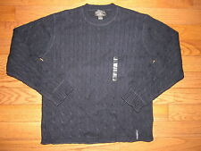NEW Vtg Ralph Lauren Polo Jeans Blue Cableknit Wool Sweater L Mens Made in Japan