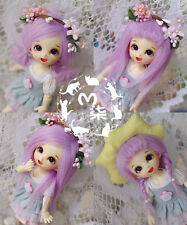 "New 5""-6"" 14cm BJD Purple Fabric Fur Wig For AE PukiFee Lati 1/8 Doll BJD Wig"