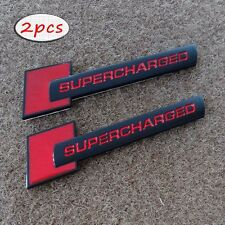 SUPERCHARGED Emblem Badge Decal Rear Stickers For Volkswagen Audi Polo MK4 MK5