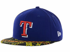 Texas Rangers MLB New Era Visor Real Chains 7-1/2 Fitted Hat Cap Royal Blue