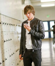 Oblow 17 Again Zac Efron Wrinkled Washed Leather Jacket