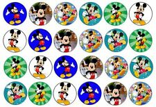 48 x 3cm Disney Mickey Mouse Fairy Cup Cake Toppers Edible Rice Paper