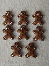 Dress IT UP pulsanti ~ Natale ~ 8 Carino GINGERBREAD uomini (ICED cookie)
