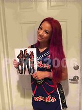 WWE SASHA BANKS HAND SIGNED AUTOGRAPHED 8X10 PHOTO FILE PHOTO WITH PIC PROOF 6